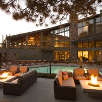 Pool deck fire pits