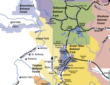 Jackson hole maps jackson hole central reservations for Towns near jackson hole wyoming