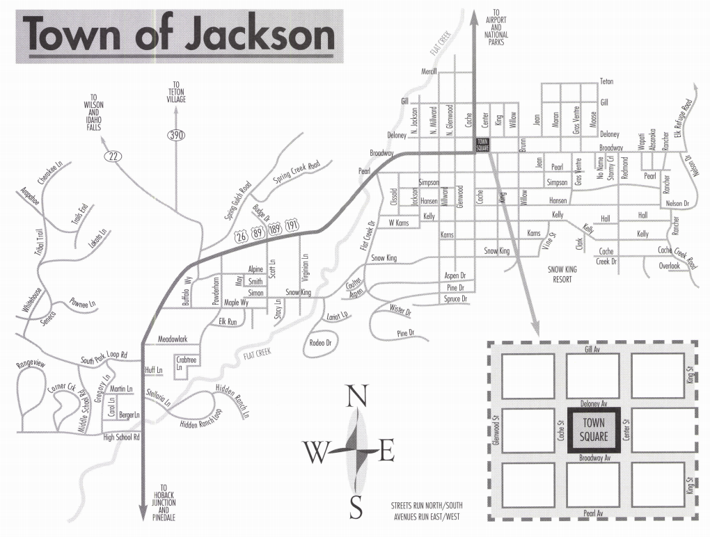 Town of jackson map