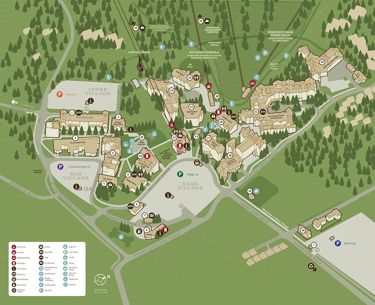 Jackson Hole Maps: Jackson Hole Central Reservations