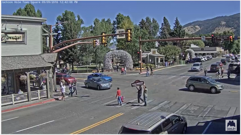 Have You Seen The Jackson Hole Town Square Web Cam?